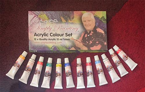 Acrylic Paint Set - 12 x 12ml tubes